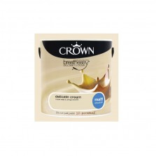 Crown Emulsion Paint 5L Delicate Cream Matt