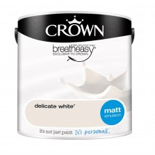Crown Emulsion Paint 2.5L Delicate White Matt
