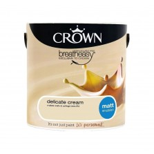 Crown Emulsion Paint 2.5L Delicate Cream Matt