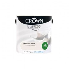 Crown Breathe Easy Emulsion Paint 2.5L Delicate White (Silk)