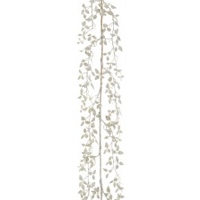 Christmas Glitter Leaf Garland 1.5m (5FT) Silver