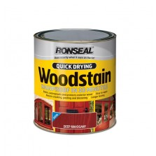 Ronseal Quick Drying Wood Stain 250ml Deep Mahogany Satin