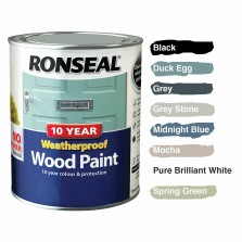 Ronseal 10 Year Weatherproof  Wood Paint Duck Egg Satin 750ml