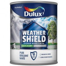 Dulux Weathershield Quick Dry Undercoat 750ml Pure Brilliant White