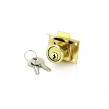 Securit S1678 Brass Plated Drawer Lock 50mm