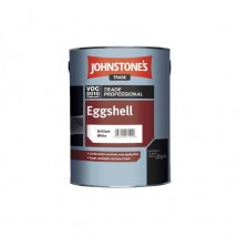 Johnstones Trade Eggshell Paint 5L Brilliant White