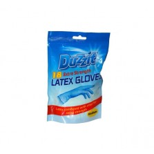 Duzzit Extra Strength Latex Gloves (18 Pack/M)