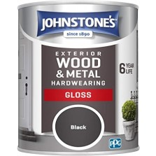 Johnstones Weatherguard Exterior Gloss Paint 2.5L Black