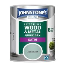 Johnstones Exterior Satin Paint 750ml Aqua Leaf