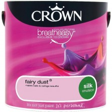 Crown Breathe Easy Emulsion Paint 2.5L Fairy Dust (Silk)