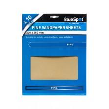 BlueSpot Sandpaper Sheets (10 Piece) Fine