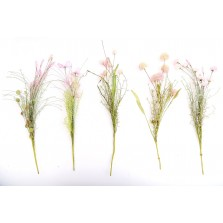 Artificial Pink Wild Flower Stem - Assorted