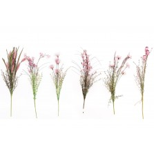 Artificial Dusty Pink Wild Flowers - Assorted