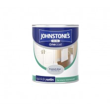 Johnstones One Coat Satin Paint 750ml Frosted Silver