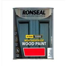 Ronseal 10 Year Weatherproof  Wood Paint White Gloss 750ml