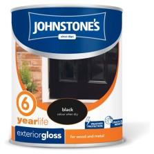 Johnstones Exterior Gloss 750ml Black