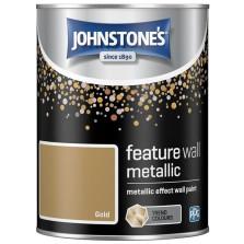 Johnstones Feature Wall Paint 1.25L Metallic Gold