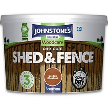 Johnstones One Coat Shed & Fence Paint 9L Golden Chestnut