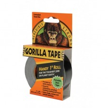 Gorilla Tape Handy Roll 25mm x 9.14m Black