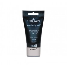 Crown Emulsion Paint Tester Pot 40ml Grey Putty (Matt)