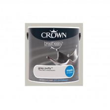 Crown Emulsion Paint 2.5L Grey Putty Matt
