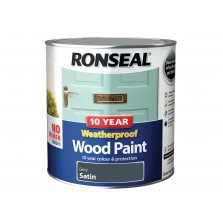 Ronseal 10 year Weatherproof  Wood Paint Grey Satin 2.5L