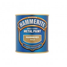 Hammerite Metal Paint 250ml Hammered Gold