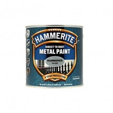 Hammerite Metal Paint 250ml Hammered Silver