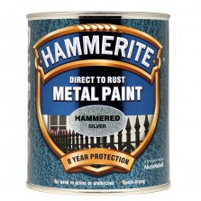 Hammerite Metal Paint 750ml Hammered Silver ( +33% Extra)