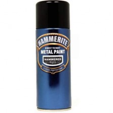 Hammerite Metal Spray Paint 400ml Hammered Black