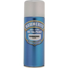 Hammerite Metal Spray Paint 400ml Hammered Silver