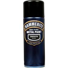 Hammerite Metal Spray Paint 400ml Smooth Black