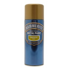 Hammerite Metal Spray Paint 400ml Smooth Gold