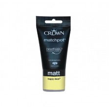Crown Emulsion Paint Tester Pot 40ml Happy Daze (Matt)