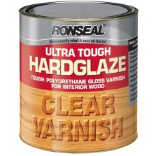 Ronseal Ultra Tough Hard Glaze Varnish 750ml Clear