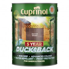 Cuprinol 5 Year Ducksback 5L Harvest Brown