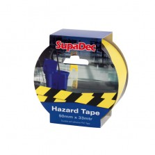 Supadec Hazard Tape 50mm x 33m