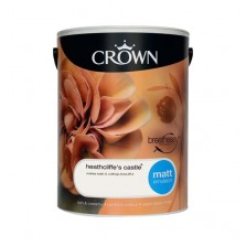 Crown Breathe Easy Emulsion Paint 5L Heathcliffe's Castle (Matt)