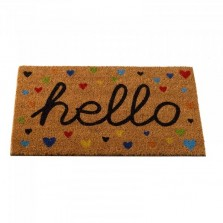 Hearty Hello Decoir Mat 75 x 45cm