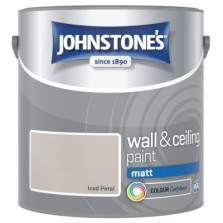 Johnstones Vinyl Emulsion Paint 2.5L Iced Petal (Matt)
