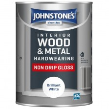 Johnstones Interior Non Drip Gloss Paint 1.25L Brilliant White