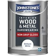 Johnstones Non Drip Gloss Paint 750ml Black