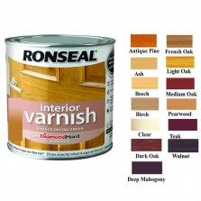 Ronseal Diamond Hard Interior Varnish 750ml Teak Satin