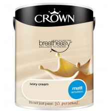 Crown Emulsion Paint 5L Ivory Cream Matt