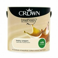 Crown Emulsion Paint 2.5L Ivory Cream Silk