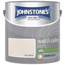 Johnstones Vinyl Emulsion Paint 2.5L Ivory Spray Silk