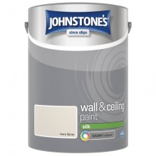 Johnstones Vinyl Emulsion Paint 5L Ivory Spray Silk