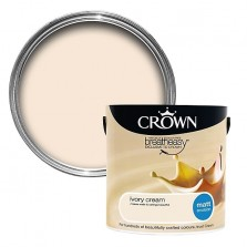 Crown Emulsion Paint 2.5L Ivory Cream Matt