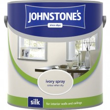 Johnstones Vinyl Emulsion Paint 2.5L Ivory Spray Silk