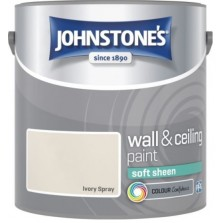 Johnstones Vinyl Emulsion Paint 2.5L Ivory Spray Soft Sheen